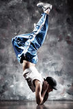 Young woman dancer. Contrast colors Royalty Free Stock Photos