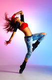 Young woman dancer Stock Images