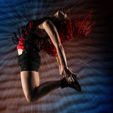 Young woman dancer. Royalty Free Stock Photo