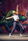 Young woman dancer. Young beautiful hip- hop dancer posing royalty free stock photos