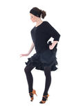 Young woman dancer in black posing Stock Photo