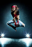 Young woman dancer jumping Royalty Free Stock Image