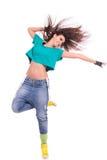 Young woman dancer posing stock photos