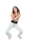 Young woman dancing Stock Images