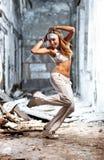 Young woman dancing Stock Photo