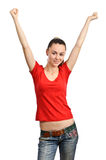 Young woman dancing Royalty Free Stock Photography