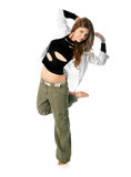 Young woman dancing Stock Photo