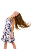 Young woman is dancing Stock Photo
