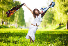 Young woman dancing Royalty Free Stock Images