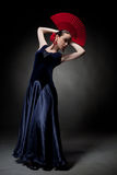 Young woman dancing flamenco Stock Photos