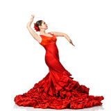 Young Woman Dancing Flamenco Royalty Free Stock Images