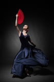 Young woman dancing flamenco Royalty Free Stock Image