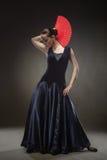 Young woman dancing flamenco Royalty Free Stock Image