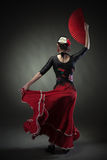 Young woman dancing flamenco Royalty Free Stock Photos
