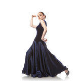 Young woman dancing flamenco isolated on white Stock Image