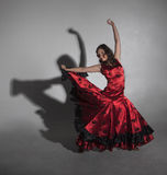 Young woman dancing flamenco Stock Image