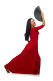 Young woman dancing isolated on white Royalty Free Stock Image