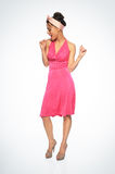 Young woman dancing. Old fashioned young woman dancing Royalty Free Stock Photography
