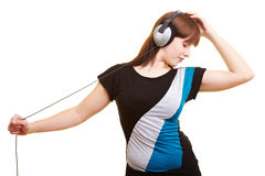 Young woman dancing to music Royalty Free Stock Photo