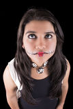 Young woman in day of the dead mask skull face Royalty Free Stock Photo