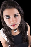 Young woman in day of the dead mask skull face Stock Photos