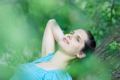 Young woman day-dreaming Royalty Free Stock Image