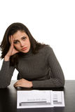 Young woman in debt Stock Photography