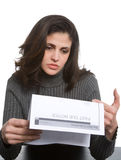 Young woman in debt Stock Photos