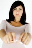 Young woman deciding to stop smoking Stock Photos