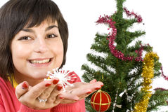 Young woman decorating Stock Photos