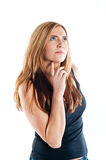 Young woman deep in thought Stock Photo