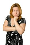 Young woman dejected Royalty Free Stock Image