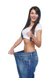Young woman delighted with her dieting results Royalty Free Stock Photography