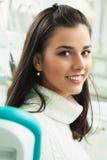 Young woman dental patient Stock Photos