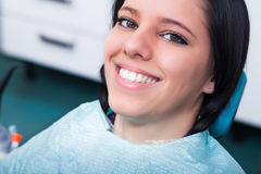 Young Woman at Dentist's Office Royalty Free Stock Photography