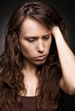 Young woman in depression Stock Photography