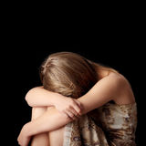 Young woman depression royalty free stock photos