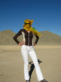 Young woman in desert Royalty Free Stock Photo