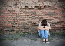 Young woman in despair Royalty Free Stock Images