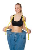 The young woman in dieting concept Stock Image