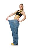 The young woman in dieting concept. Young woman in dieting concept Stock Photo