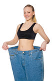 Young woman in dieting concept Stock Images