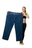 Young woman in dieting concept Stock Image