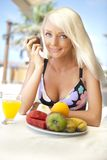 Young woman dieting Stock Images