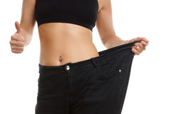 Young woman on diets Stock Images