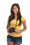 Young woman with digital camera Royalty Free Stock Image