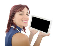 Young woman with a digital tablet Stock Photography