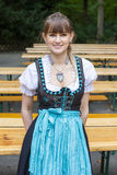 Young woman in dirndl Stock Photos