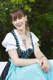 Young woman in dirndl royalty free stock images