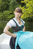 Young woman in dirndl royalty free stock photo